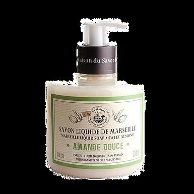 Sapone di Marsiglia Liquido 330ml con Dosatore alla Mandorla Dolce