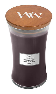 Candela Woodwick Large BLACK PLUM COGNAC