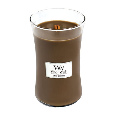 Candela Woodwick Large AMBER AND INCENSE