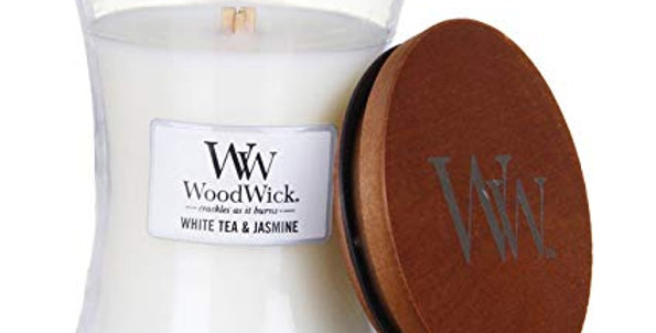 Candela Woodwick Medium WHITE TEA & JASMINE