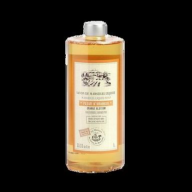 Sapone di Marsiglia Liquido Ricarica 1Lt ai Fiori di Arancio