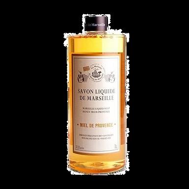 Sapone di Marsiglia Liquido Ricarica 1Lt al Miele di Provenza