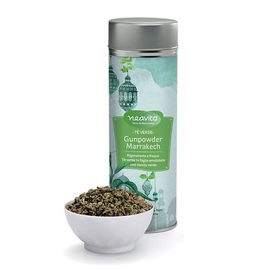 Silver Tin Tè verde Gunpowder Marrakech – Neavita