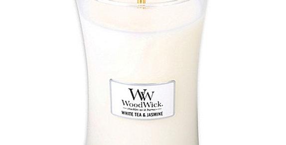 Candela Woodwick Large WHITE TEA & JASMINE