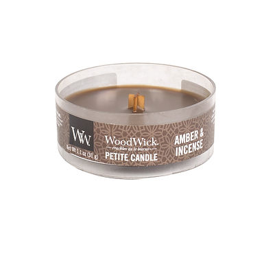 Candela Woodwick Petite AMBER AND INCENSE