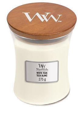 Candela Woodwick WHITE TEAK Mini