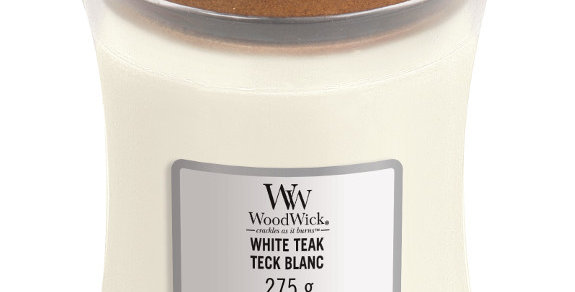 Candela Woodwick WHITE TEAK Medium