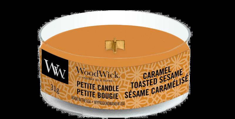 Candela Woodwick Petite CARAMEL TOASTED SESAME