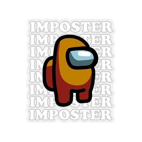Orange Imposter Sticker