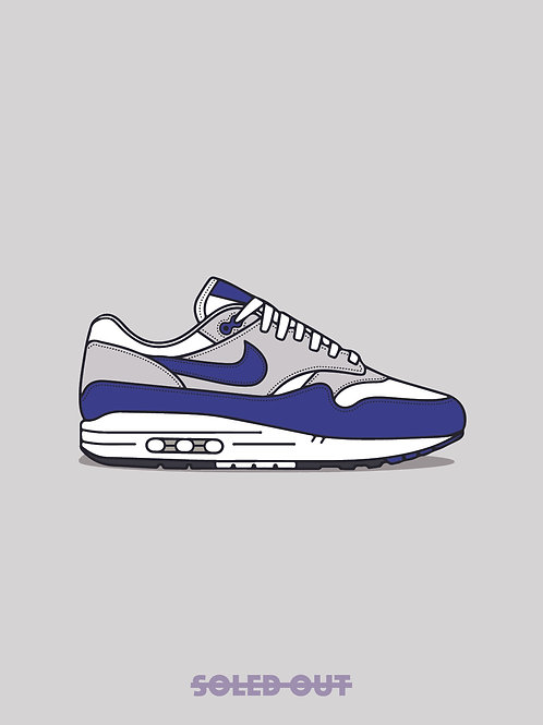 Air Max 1 Royal Blue Poster