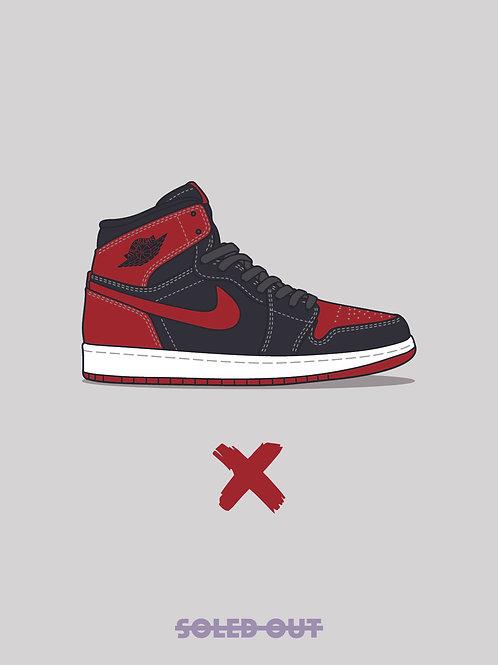 """Air Jordan 1 """"Banned"""" Poster"""