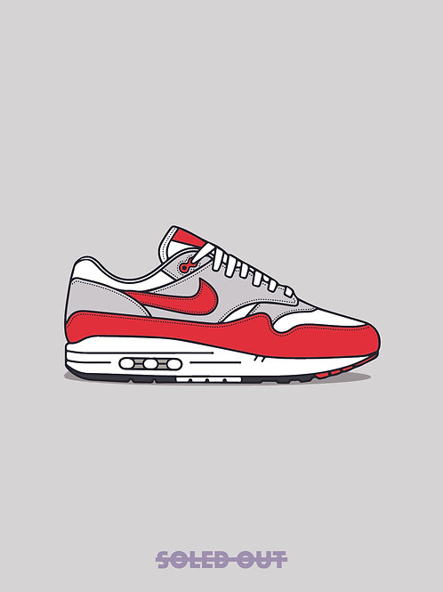 Air Max 1 Anniversary Red Poster