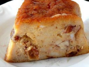 Bread pudding de bolo-rei by chef kiko