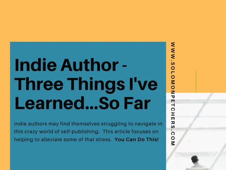 3 Things I Learned (So Far) as an Indie Author