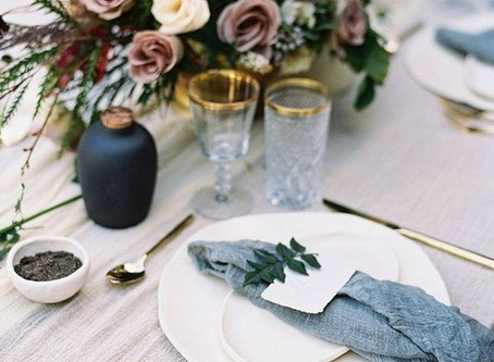 Top 10 Wedding Table Decorations in Dusty Blue in 2020