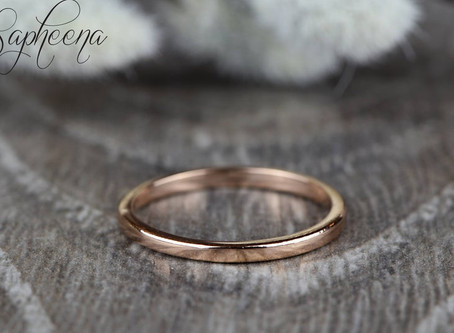Top 10 Etsy Boho Wedding Rings under $250 in Rose Gold in 2020