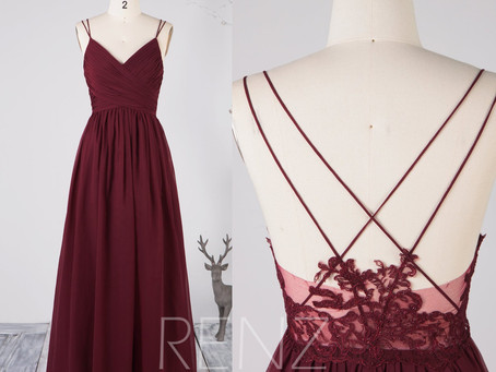 10+ Burgundy Bridesmaid Dresses That Your Bridesmaids Will Swoon Over