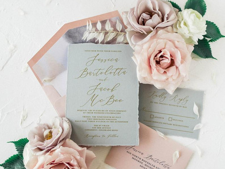 Top 10+ Hand Torn Etsy Wedding Invitations for Rustic Weddings in 2020