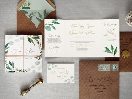 Top 10+ Inexpensive Gold Foil Etsy Wedding Invitations in 2020