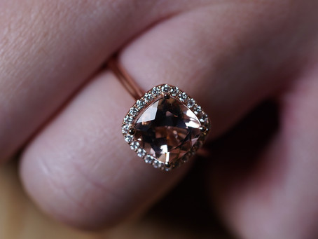 The Most Beautiful Yet Inexpensive Engagement Ring - Morganite - Blue Nile Review & Unboxing