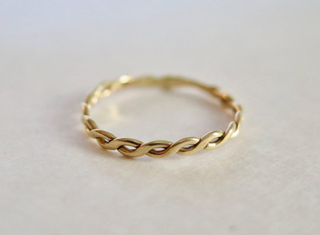 Top 10 Etsy Boho Wedding Rings Under $100 in Yellow Gold in 2020