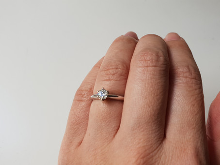 0.4 Carat Blue Nile Solitaire Diamond Engagement Ring Unboxing and Review 2020
