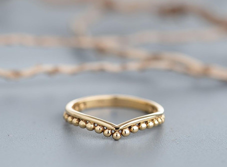 Top 10 Etsy Boho Wedding Bands Under $250 in Yellow Gold in 2020