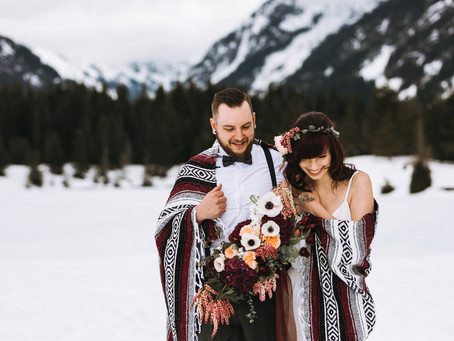 Elopement in the Mountains Surrounding Seattle