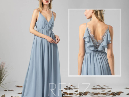 10+ Fabulous Dusty Blue Bridesmaid Dresses Your Bridesmaids Will Love!