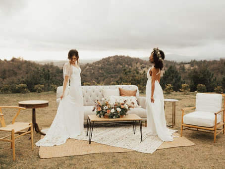 Mountain-Side Vintage Wedding Inspiration Shoot in California
