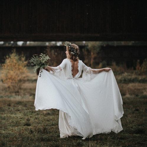 Serifos Chiffon Wedding Dress I Boho Chic Europe