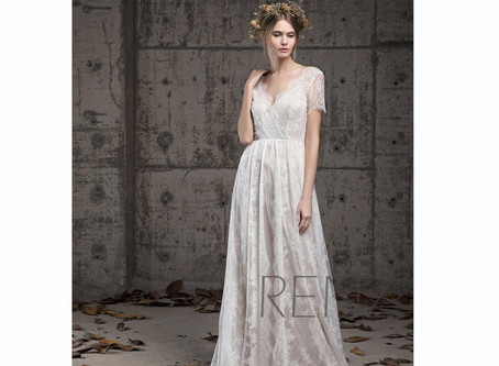 Top 10 Boho Simple Wedding Dresses Under $400 in June, 2020