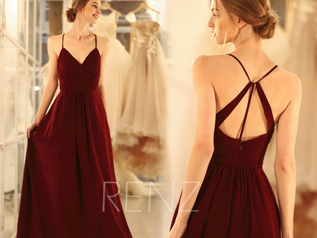 10+ Wonderful Maroon Bridesmaid Dresses that Your Girl Tribe Will Love
