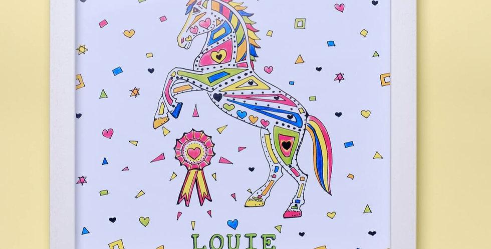 Personalised Framed Horse Print