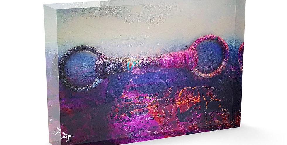 Pink Snaffle Acrylic Art