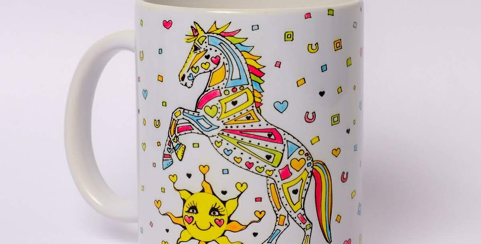 Personalised Pony Print Mug