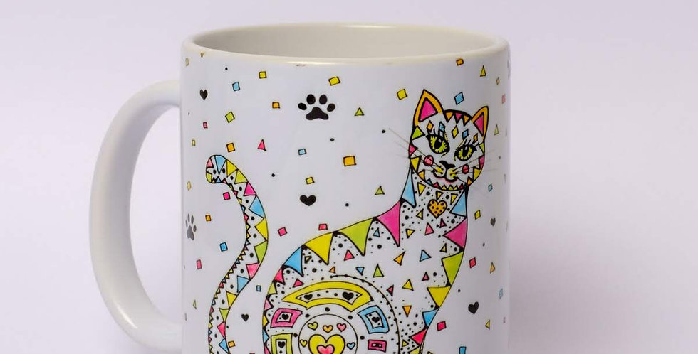 Personalised Cat Print Mug