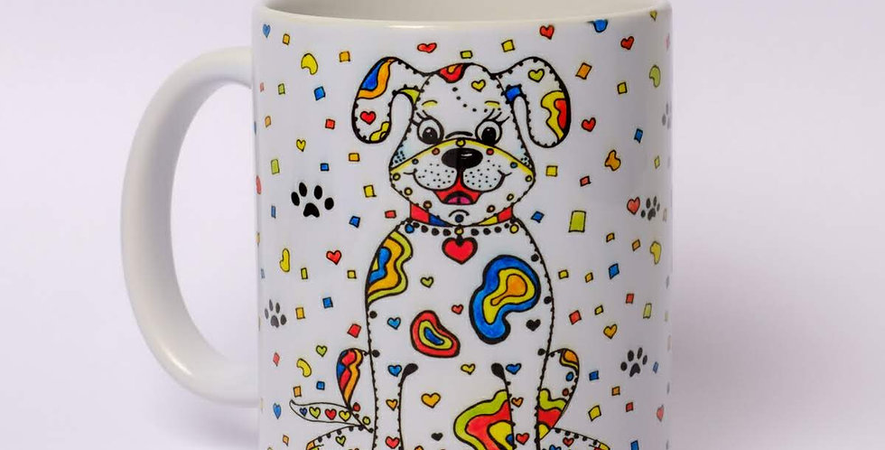 Personalised Dog Print Mug