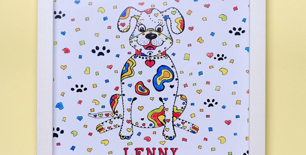 Personalised Framed Dog Print