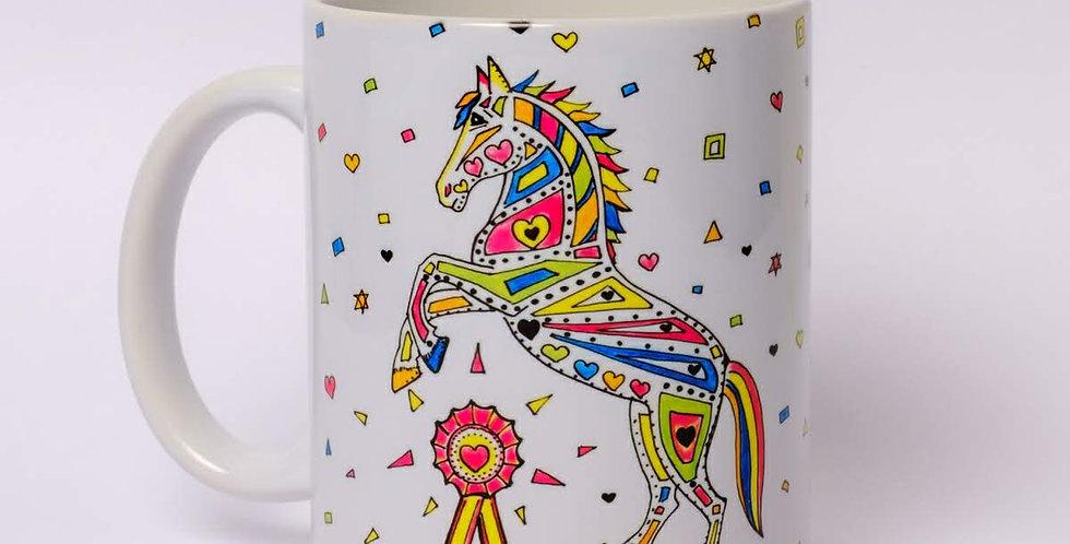 Personalised Horse Print Mug
