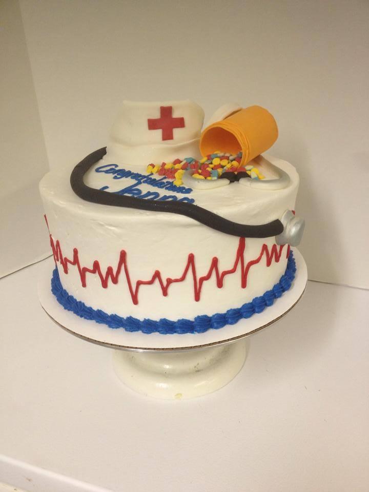 Single tier nurse cake