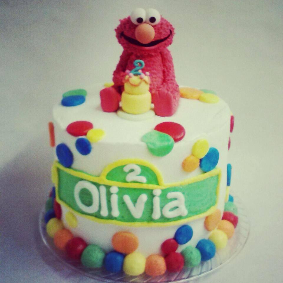 Elmo finger cake