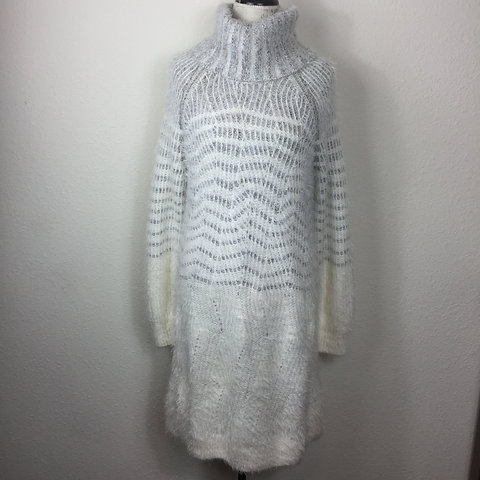 Details about  /New Anthropologie Fab Sleeping on Snow Risen Sun Sweater Dress Ivory Combo XS