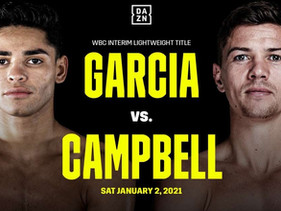 Ryan Garcia vs. Luke Campbell fight now to take place in the new year.
