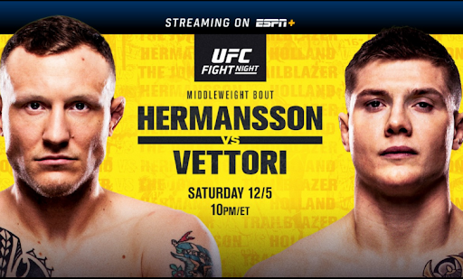 Jack Hermansson is now fighting Marvin Vettori tonight.