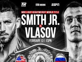 Title fight: Joe Smith Jr. vs Maxim Vlasov, WBO light heavyweight title.