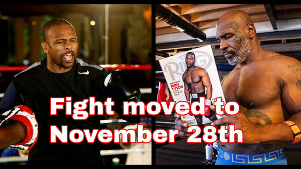 Mike Tyson vs Roy Jones fight moved to November 28th