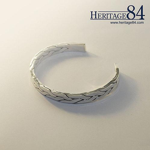 Man's Bracelet in 925 Sterling silver | Braided silver bangle