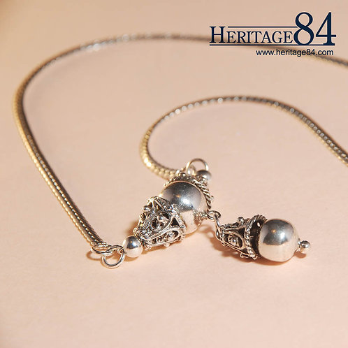 Asian - Oriental vintage sterling silver necklace