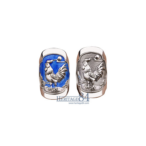 Rooster, Fine Silver Rings, Chinese Zodiac Animals